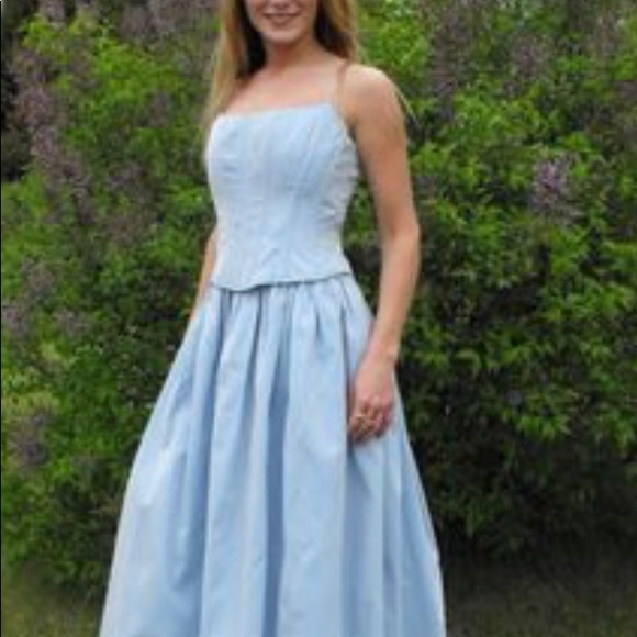 Jessica McClintock Dresses | Gunne Sax Satin Formal Dress | Poshmark